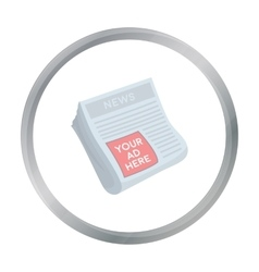 Classified ads in newspaper icon in cartoon style vector image