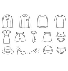 Clothes line icons set vector image vector image