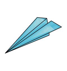 flight paper plane vector image