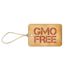 Gmo Free Old Paper Grunge Label vector image vector image