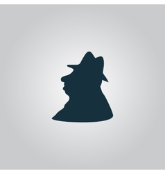 Man profile in hat icon vector image vector image