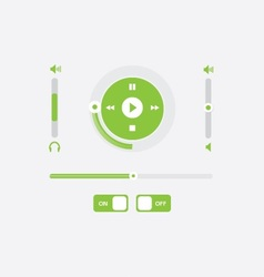 music player control interfrace 3 vector image vector image
