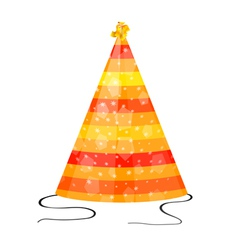 Orange hat for party on a white background vector image vector image