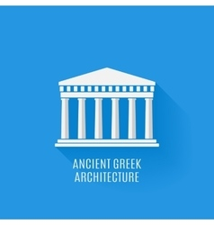 Ancient Greek architecture Icon vector image vector image