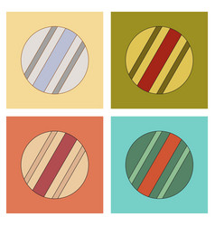 assembly flat icons kids toy ball vector image