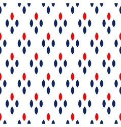 Blue red and white dots simple geometric seamless vector image