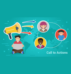Business banner - call to actions vector