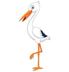 Cartoon stork vector image vector image