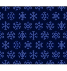 Christmas Snowflakes Blue Background with Seamless vector image