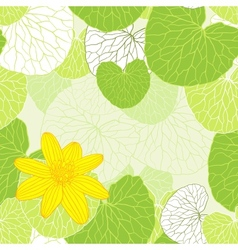 Fresh green leaves background - vector image vector image