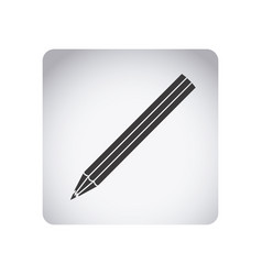 gray emblem pencil icon vector image