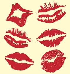 lipstick marks vector image