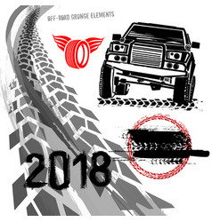 off road set vector image