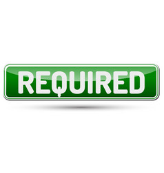 Required - abstract beautiful button with text vector