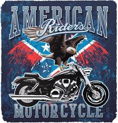 American Motorcycle rider vector image vector image