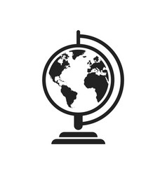 globe world map icon round earth flat planet vector image vector image