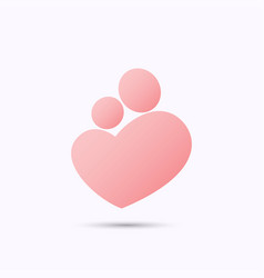 mother and baby heart symbol vector image