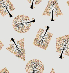 seamless wallpaper trees vector image