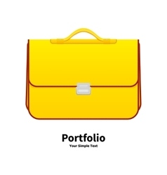 yellow school bag vector image vector image