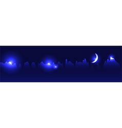 Abstract futuristic moon skyline vector