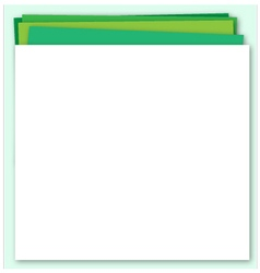 Abstract green background with paper layers vector