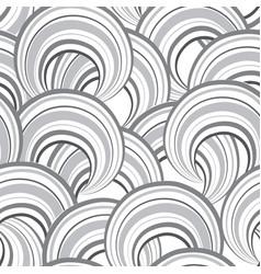 abstract wave line and loops seamless pattern vector image