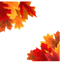 Autumn natural leaves background eps10 vector
