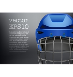 Background of Classic blue Ice Hockey Helmet vector image