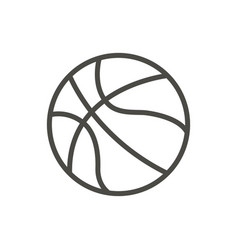 basketball ball icon line basket symbol vector image