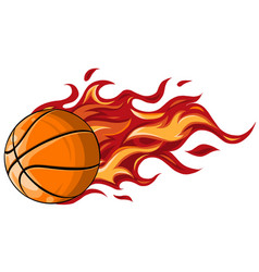 Basketball ball in flame vector
