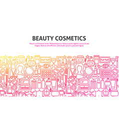 Beauty cosmetics concept vector
