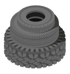 Big tire icon isometric style vector