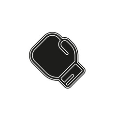 boxing glove boxing icon punch symbol fight vector image