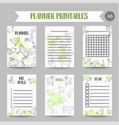 butcher business organizer hand drawn farm vector image