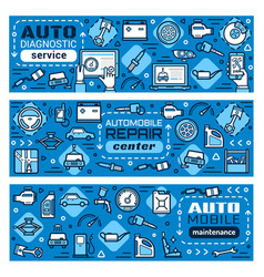 Car repair and diagnostic mechanic service station vector