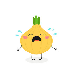 cartoon crying onion vector image