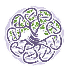 Celtic tree life vector