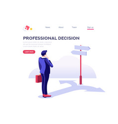 Choose business decision symbol vector