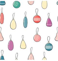 christmas ball seamless pattern winter holiday vector image