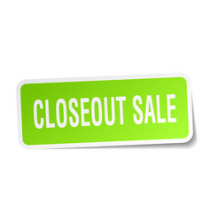 Closeout sale square sticker on white vector
