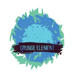Color grunge abstract element vector