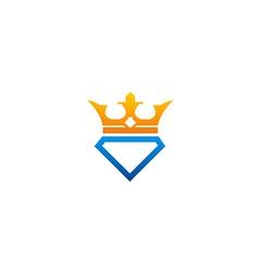 Crown diamond jewellery logo vector