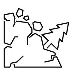 Disaster landslide icon outline style vector