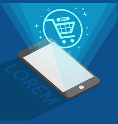 easy shopping online by your phone vector image