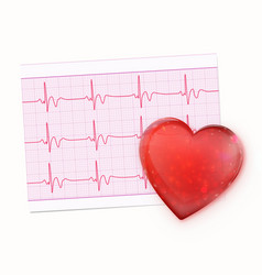 electrocardiogram record paper vector image