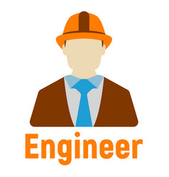 engineer logo and icon energy label for web on vector image
