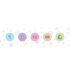 Entry icons vector