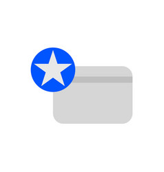 favorite credit card icon vector image