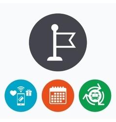 Flag pointer sign icon marker symbol vector