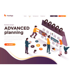 flat color modern isometric concept - advanced vector image